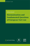 Mehr zu: Harmonisation and fundamental Questions| of European Tort Law